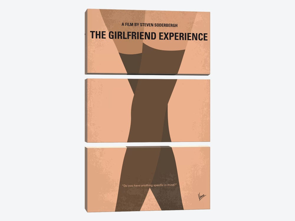 The Girlfriend Experience Minimal Movie Poster by Chungkong 3-piece Canvas Wall Art