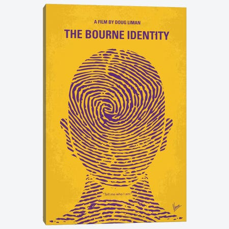The Bourne Identity Minimal Movie Poster Canvas Print #CKG447} by Chungkong Canvas Wall Art