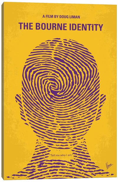 The Bourne Identity Minimal Movie Poster Canvas Art Print