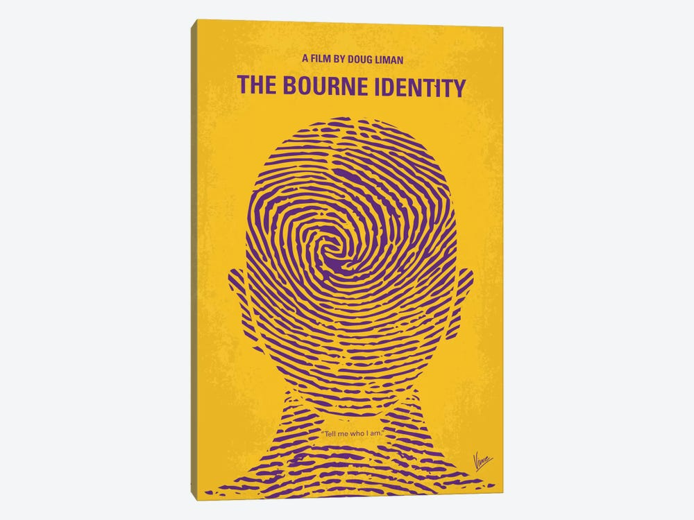 The Bourne Identity Minimal Movie Poster by Chungkong 1-piece Canvas Print