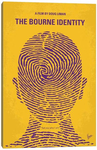 The Bourne Identity Minimal Movie Poster Canvas Art Print