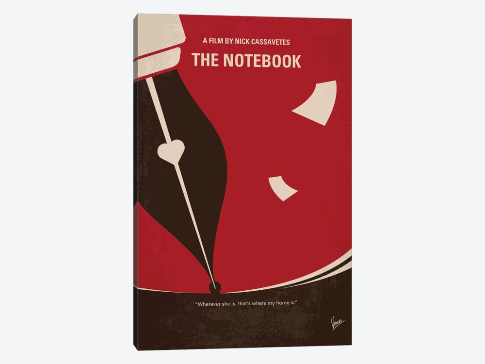 The Notebook Minimal Movie Poster by Chungkong 1-piece Canvas Artwork