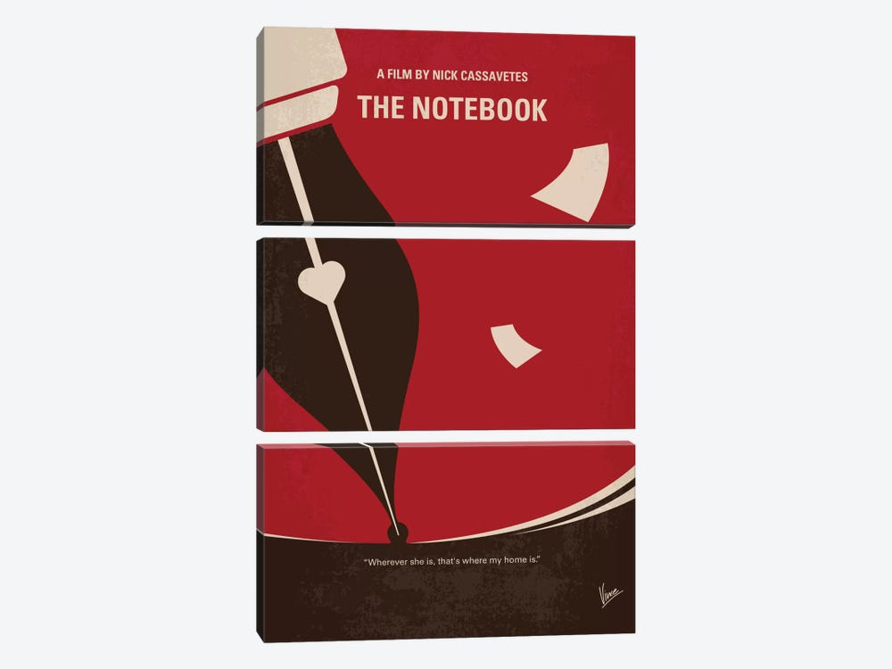 The Notebook Minimal Movie Poster by Chungkong 3-piece Canvas Art