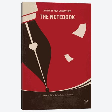 The Notebook Minimal Movie Poster Canvas Print #CKG448} by Chungkong Art Print