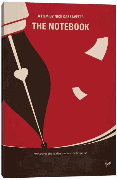 The Notebook Minimal Movie Poster Canvas Art Print