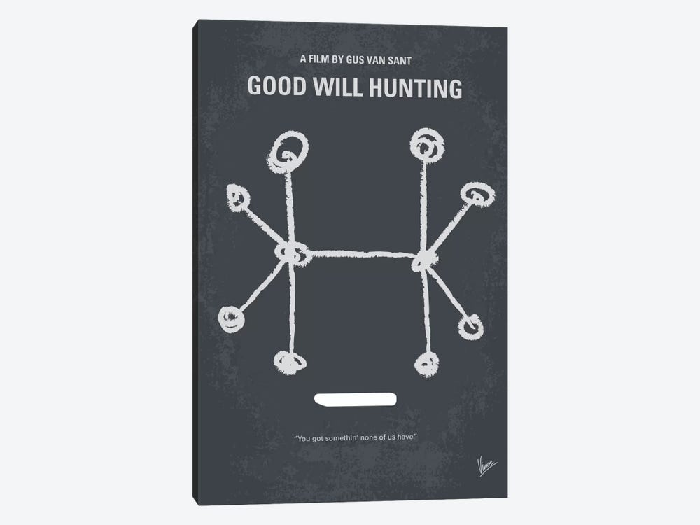 Good Will Hunting Minimal Movie Poster by Chungkong 1-piece Canvas Art Print