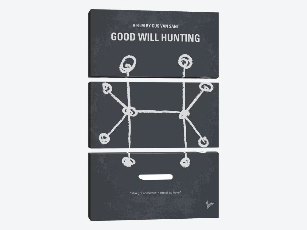 Good Will Hunting Minimal Movie Poster by Chungkong 3-piece Art Print