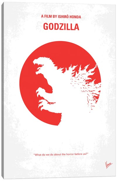 Godzilla (1954) Minimal Movie Poster Canvas Art Print