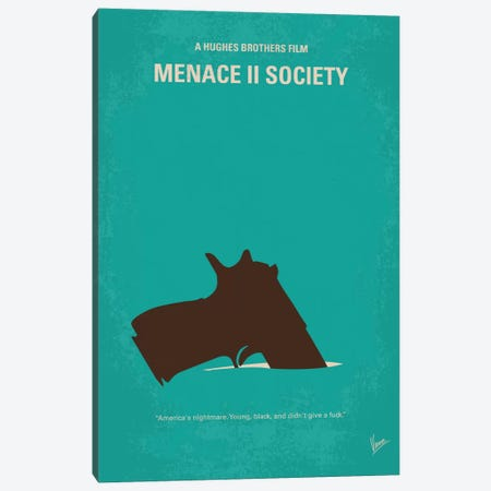 Menace II Society Minimal Movie Poster Canvas Print #CKG451} by Chungkong Canvas Art