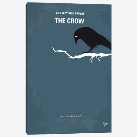 The Crow Minimal Movie Poster Canvas Print #CKG452} by Chungkong Canvas Art
