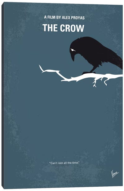 The Crow Minimal Movie Poster Canvas Art Print