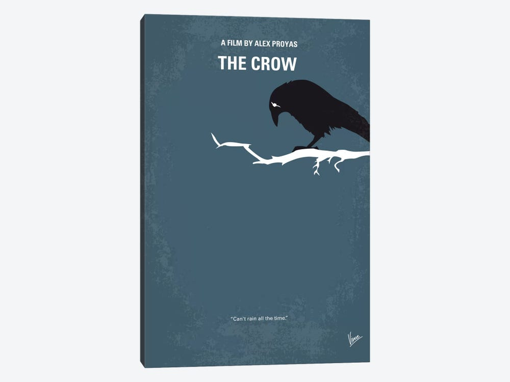 The Crow Minimal Movie Poster by Chungkong 1-piece Art Print