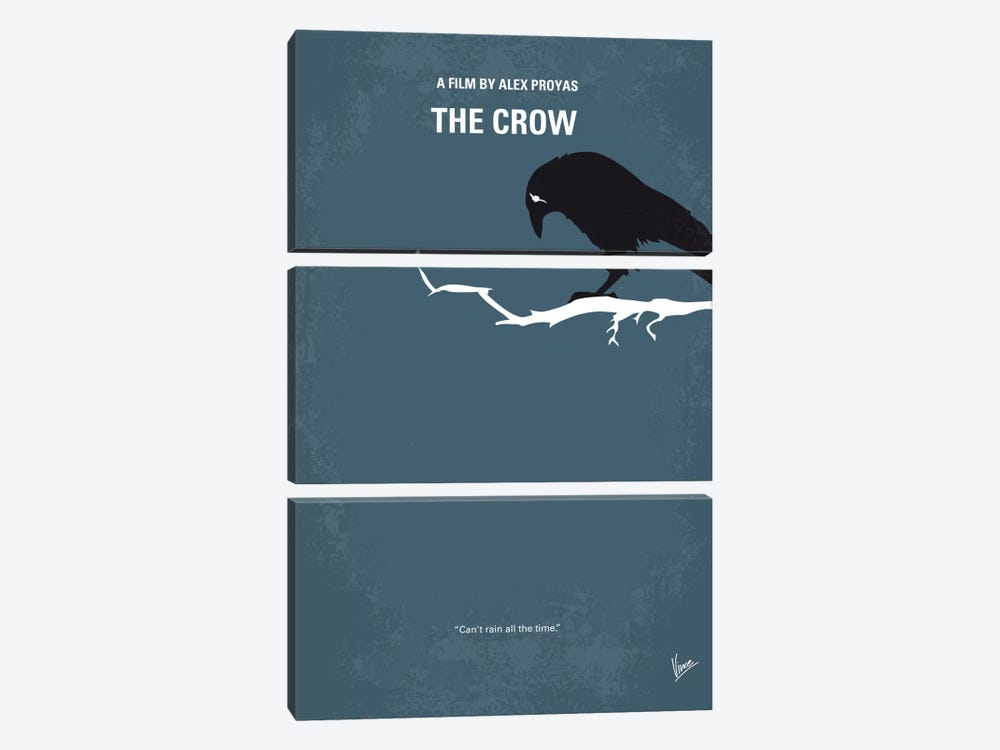 The Crow Minimal Movie Poster by Chungkong 3-piece Canvas Print