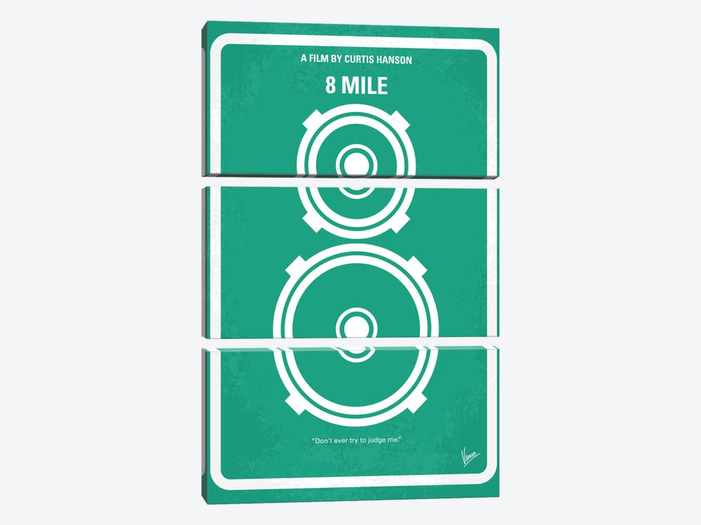 8 Mile Minimal Movie Poster 3-piece Canvas Art