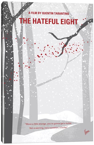 The Hateful Eight Minimal Movie Poster Canvas Art Print