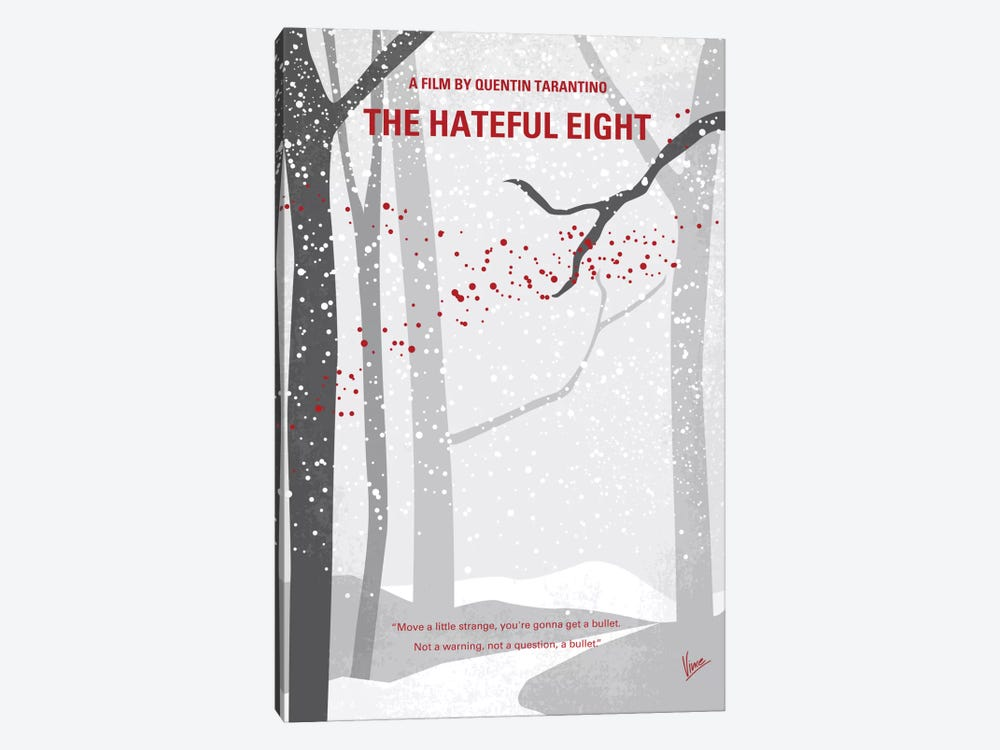 The Hateful Eight Minimal Movie Poster by Chungkong 1-piece Canvas Print
