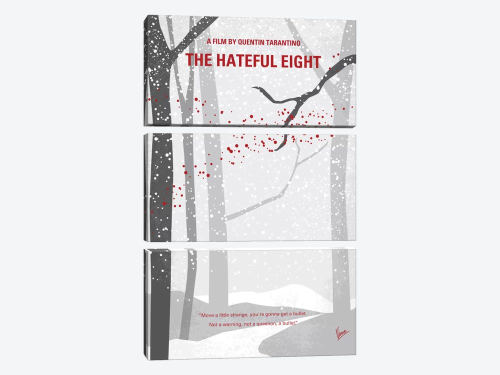 The Hateful Eight Minimal Movie Poster by Chungkong 3-piece Canvas Art Print