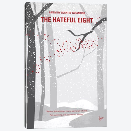 The Hateful Eight Minimal Movie Poster 3-Piece Canvas #CKG454} by Chungkong Canvas Art Print