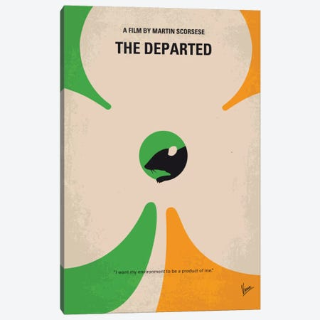 The Departed Minimal Movie Poster Canvas Print #CKG455} by Chungkong Canvas Art Print