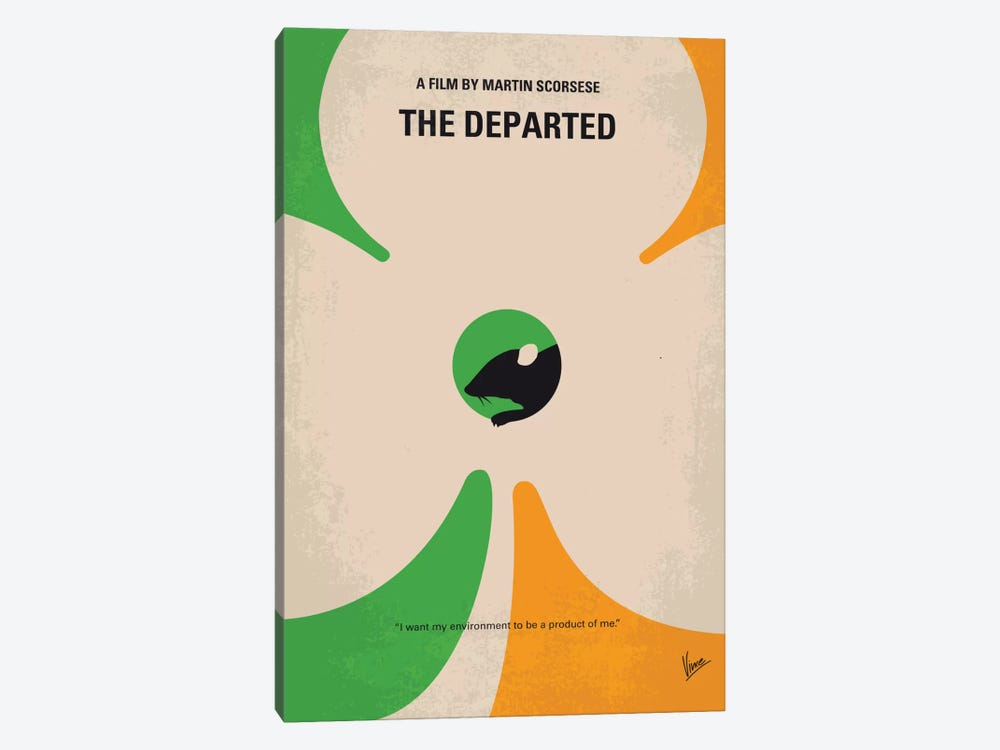 The Departed Minimal Movie Poster by Chungkong 1-piece Canvas Art