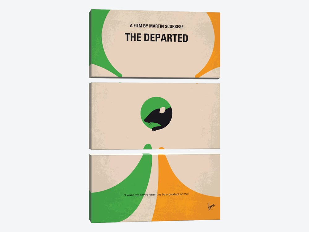 The Departed Minimal Movie Poster by Chungkong 3-piece Canvas Art