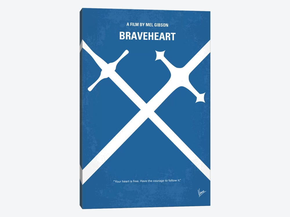 Braveheart Minimal Movie Poster by Chungkong 1-piece Art Print