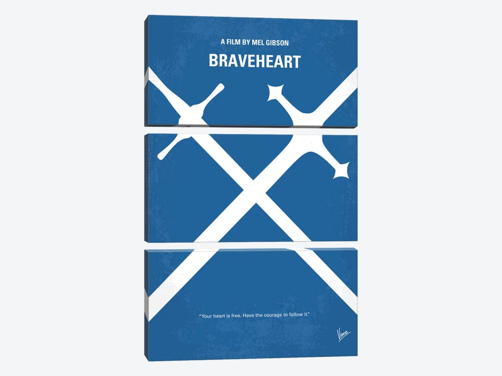 Braveheart Minimal Movie Poster by Chungkong 3-piece Art Print