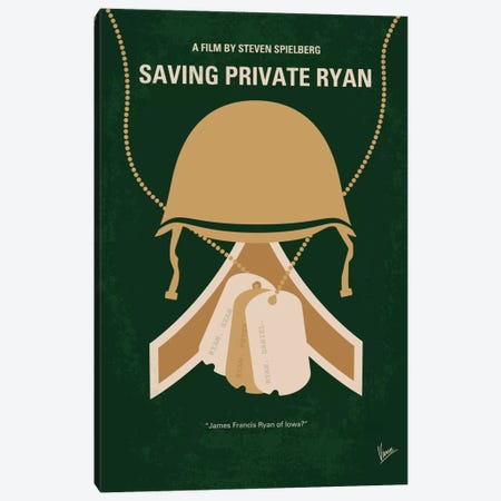 Saving Private Ryan Minimal Movie Poster Canvas Print #CKG457} by Chungkong Canvas Art Print