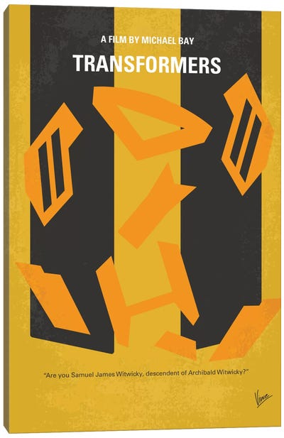 Transformers Minimal Movie Poster Canvas Art Print