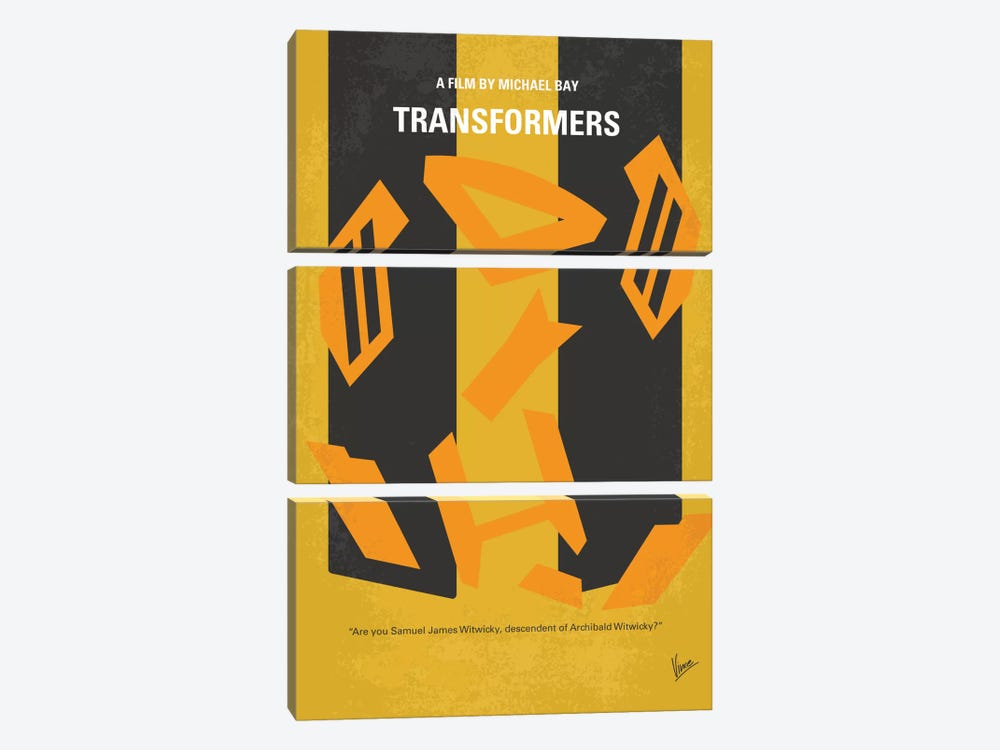 Transformers Minimal Movie Poster by Chungkong 3-piece Canvas Artwork