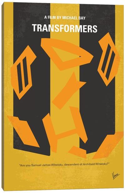 Transformers Minimal Movie Poster Canvas Art Print