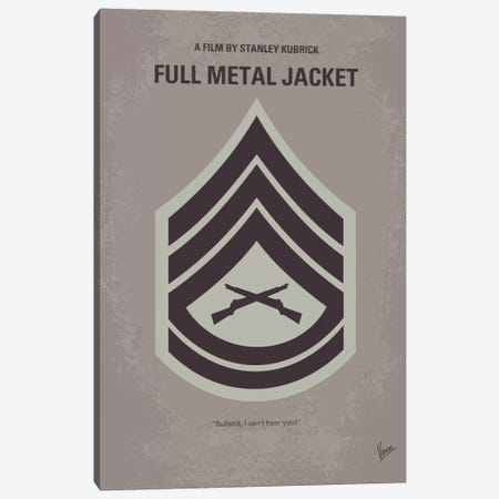 Full Metal Jacket Minimal Movie Poster Canvas Print #CKG45} by Chungkong Canvas Art