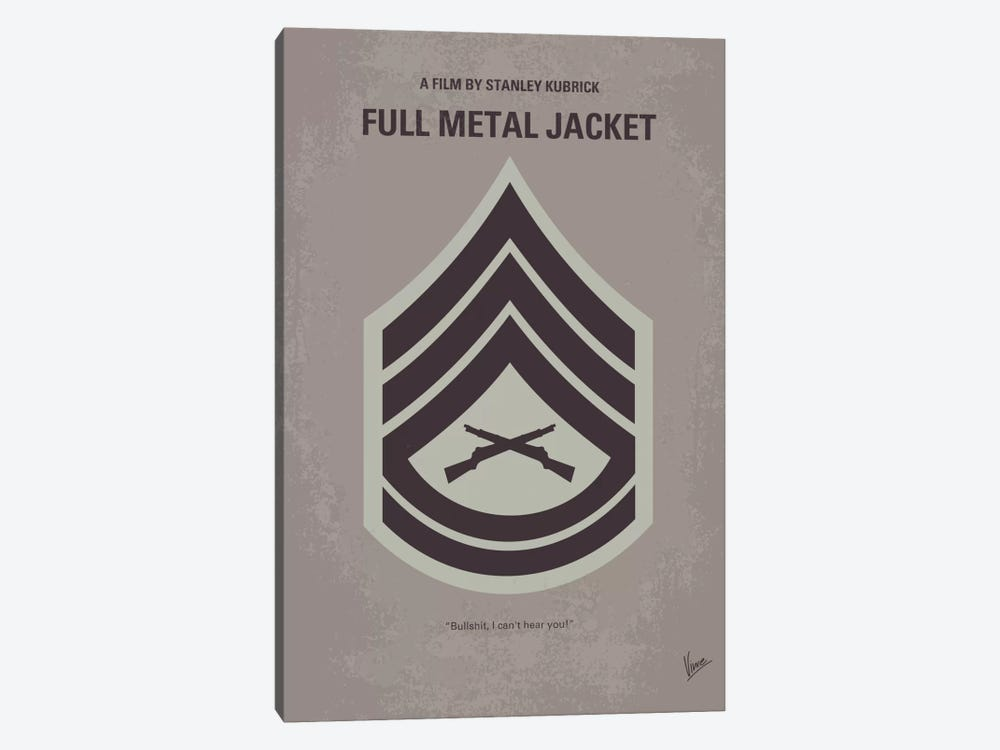 Full Metal Jacket Minimal Movie Poster by Chungkong 1-piece Canvas Art