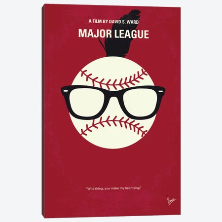 Major League Minimal Movie Poster Canvas Print #CKG460} by Chungkong Canvas Print