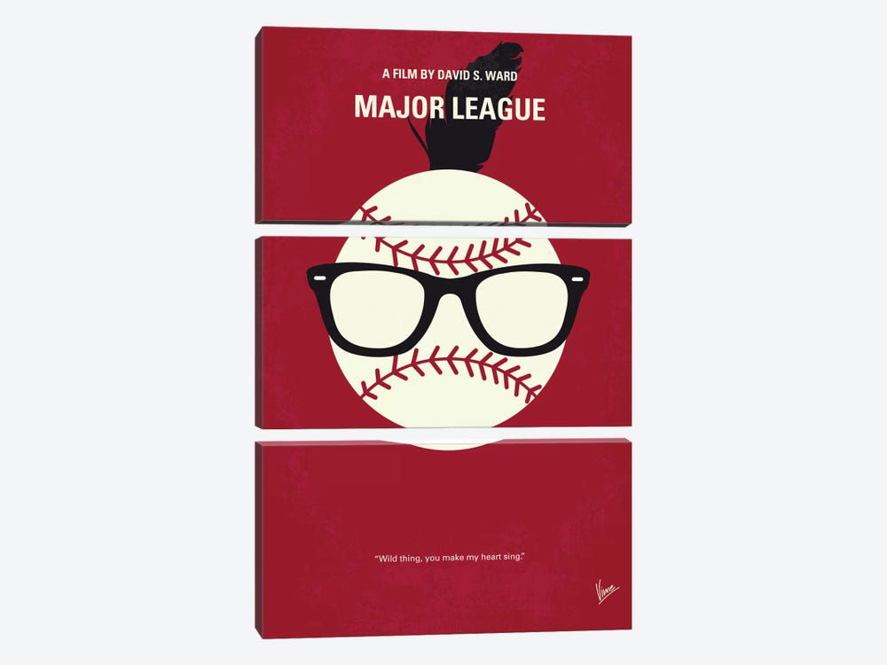 Major League Minimal Movie Poster by Chungkong 3-piece Canvas Art