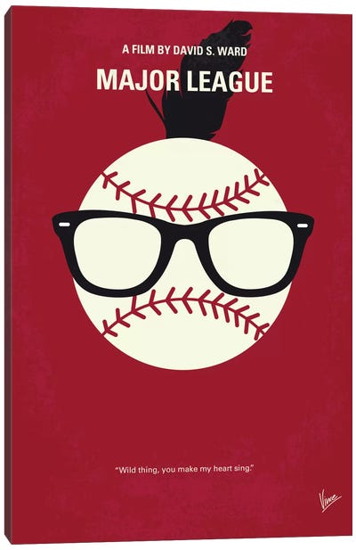 Major League Minimal Movie Poster Canvas Art Print