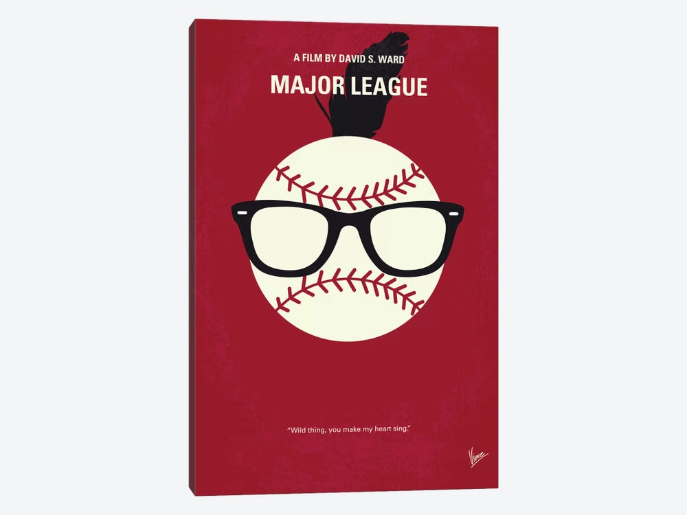 Major League Minimal Movie Poster by Chungkong 1-piece Canvas Artwork