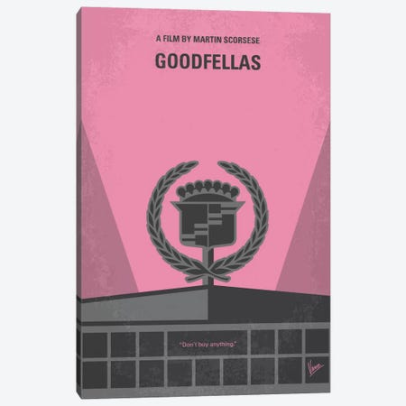 Goodfellas Minimal Movie Poster Canvas Print #CKG461} by Chungkong Art Print