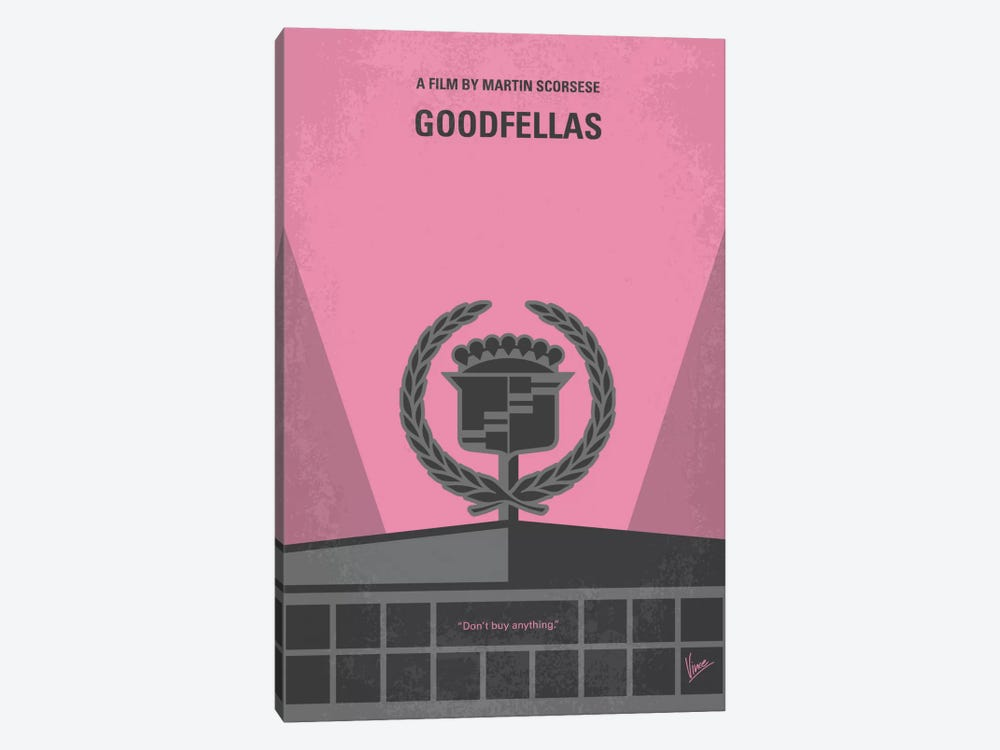 Goodfellas Minimal Movie Poster by Chungkong 1-piece Canvas Print