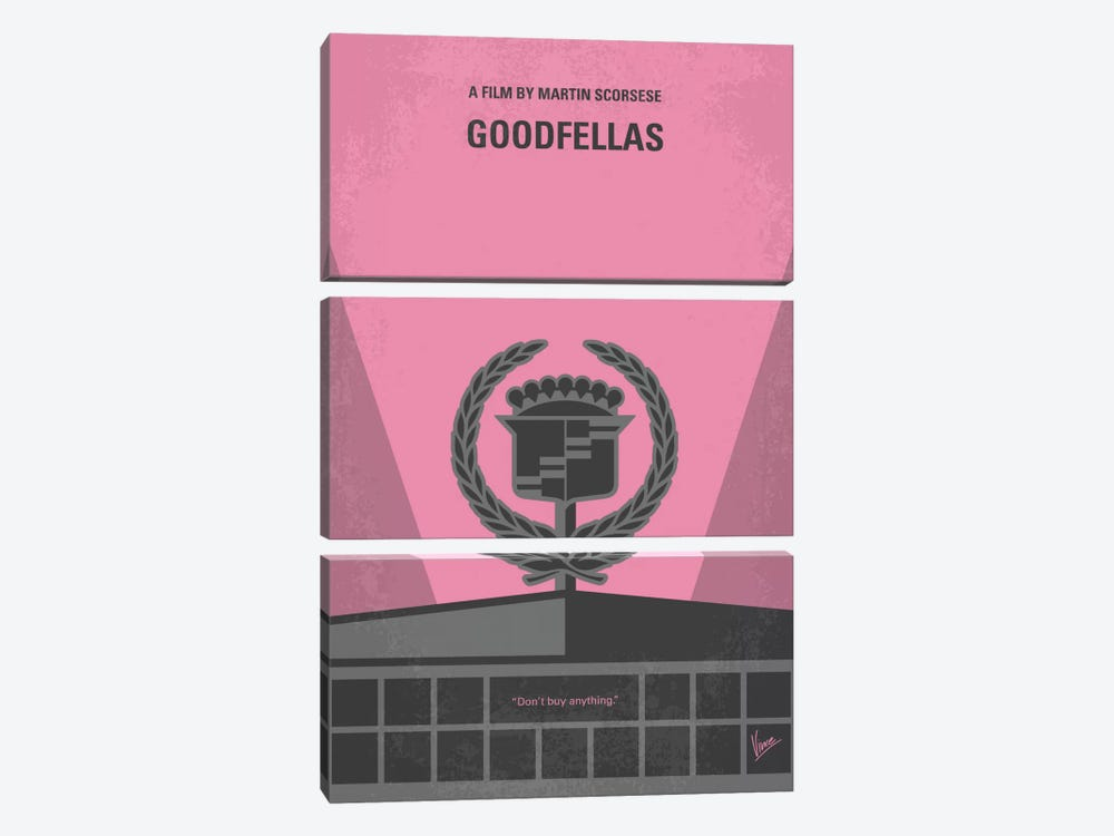Goodfellas Minimal Movie Poster by Chungkong 3-piece Art Print