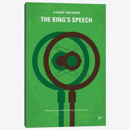 The King's Speech Minimal Movie Poster Canvas Print #CKG463} by Chungkong Canvas Art Print