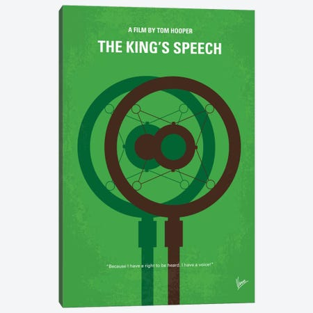 The King's Speech Minimal Movie Poster Canvas Print #CKG463} by Chungkong Canvas Art Print