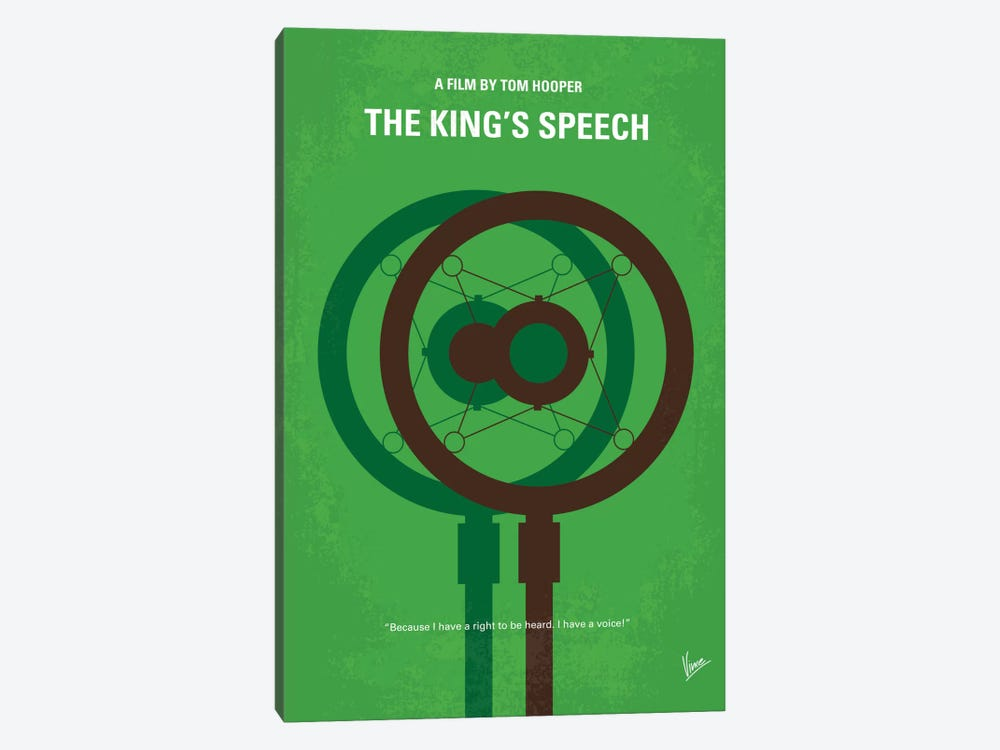 The King's Speech Minimal Movie Poster by Chungkong 1-piece Canvas Print