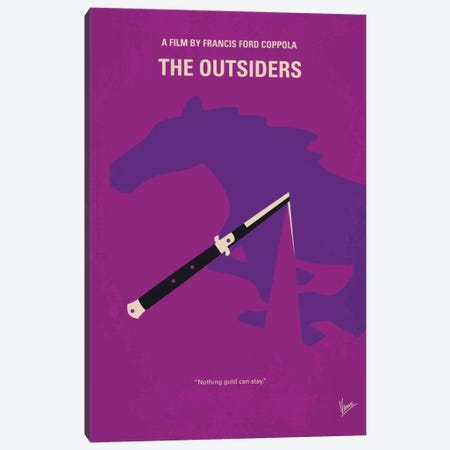 The Outsiders Minimal Movie Poster Canvas Print #CKG464} by Chungkong Canvas Artwork