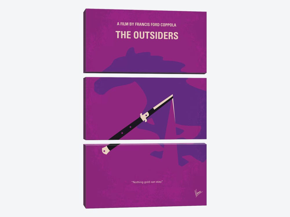 The Outsiders Minimal Movie Poster by Chungkong 3-piece Canvas Artwork