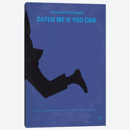 Catch Me If You Can Minimal Movie Poster Canvas Print #CKG465} by Chungkong Canvas Wall Art