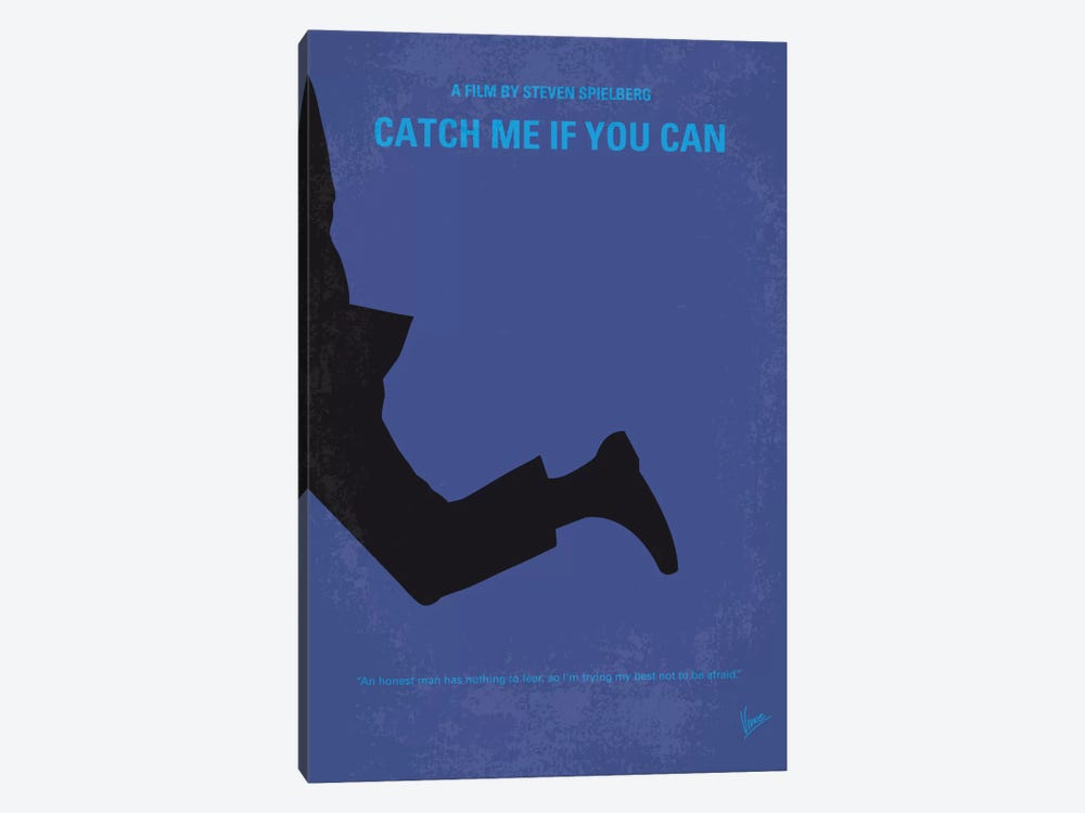 Catch Me If You Can Minimal Movie Poster by Chungkong 1-piece Canvas Print