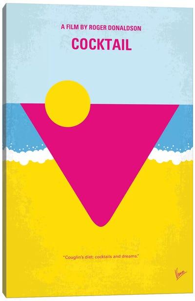 Cocktail Minimal Movie Poster Canvas Art Print