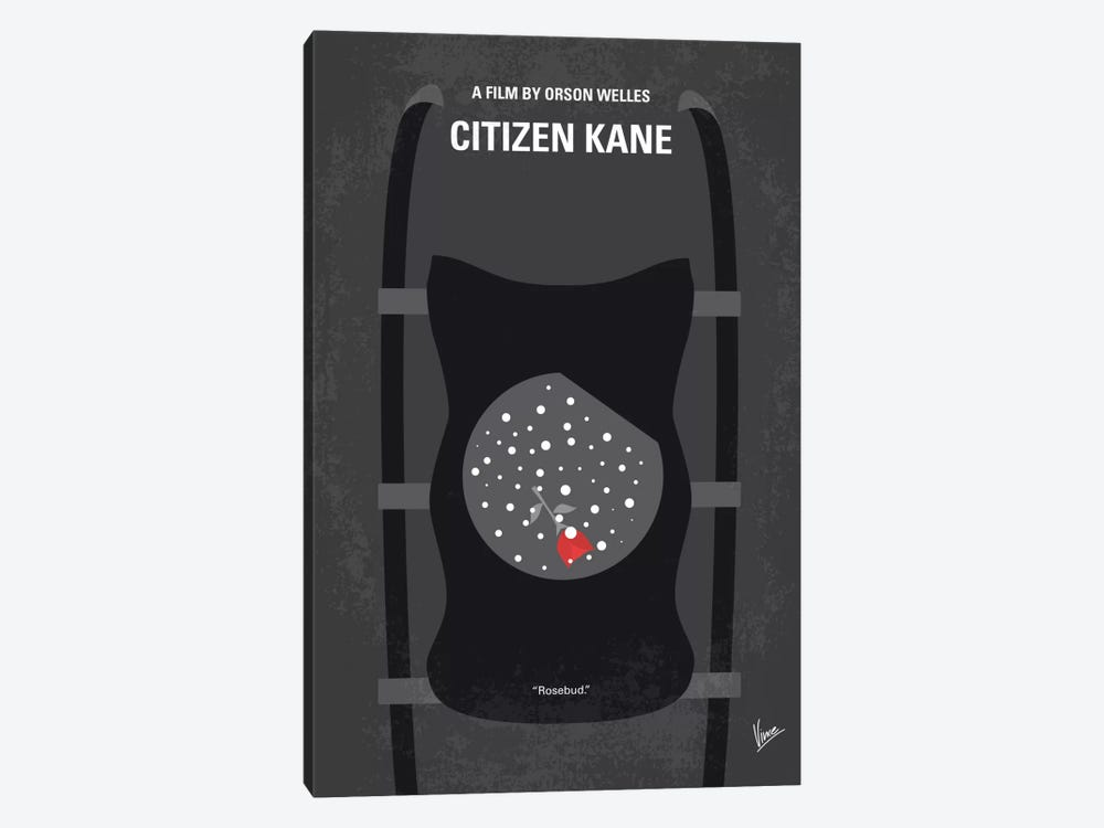 Citizen Kane Minimal Movie Poster by Chungkong 1-piece Canvas Artwork