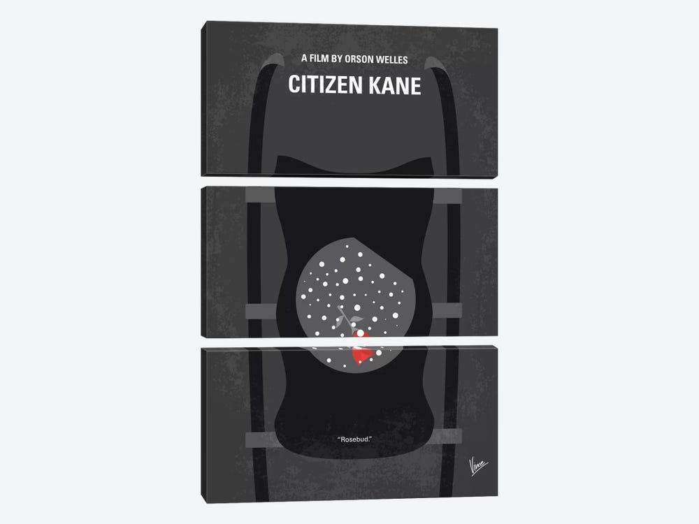 Citizen Kane Minimal Movie Poster by Chungkong 3-piece Canvas Artwork
